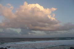 Zmierzch w morzu karaibskim zdjęcia stock
