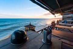 Zmierzch w Mui Ne plaży, Phan Thiet Południowy Wietnam, Azja, - obrazy stock