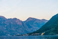 Zmierzch w niebie Montenegro Fotografia Royalty Free