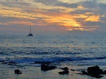 Zmierzch w oceanie Zdjęcie Royalty Free