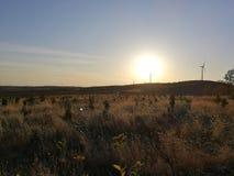 Zmierzch w opóźnionej jesieni i czystej energii zdjęcia royalty free
