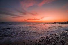Zmierzch w plaży zdjęcie royalty free