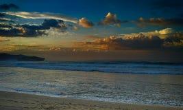 Zmierzch w plaży zdjęcie stock