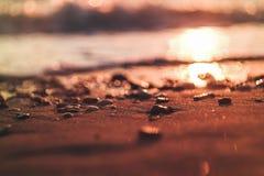 Zmierzch w plaży obraz royalty free