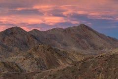 Zmierzch w południowym Nevada Zdjęcia Stock