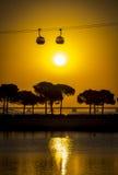 Zmierzch w Portugalia Fotografia Royalty Free