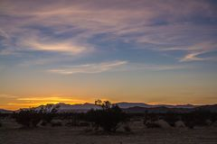 Zmierzch w pustyni - 3 fotografia stock