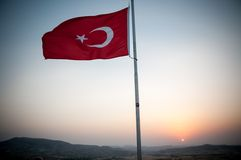 Zmierzch w Turcja Zdjęcia Royalty Free