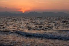 Zmierzch w Zadar, Chorwacja Obrazy Royalty Free