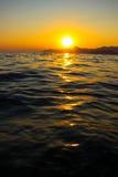 Zmierzch, wieczór, krajobraz, półmrok, krajobraz, Crimea czarny morze morze Obrazy Stock