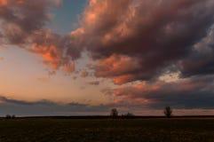 Zmierzch wiosny słońce zdjęcie stock