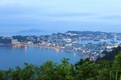 Zmierzch wyspa w Hong Kong, Cheung Chau. obraz stock