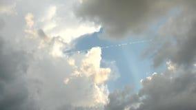 Zmierzch z pięknym chmury timelapse zbiory wideo