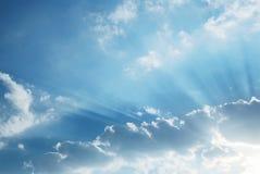 Zmierzch z słońce promieniami Fotografia Stock