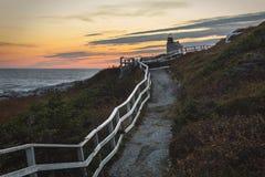 Zmierzch za różaną blanche latarnią morską Fotografia Stock