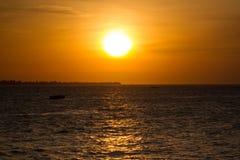 Zmierzch, Zanzibar Obrazy Stock