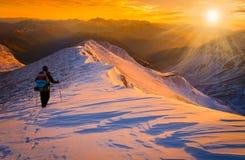 Zmierzch zimy góry Fotografia Stock