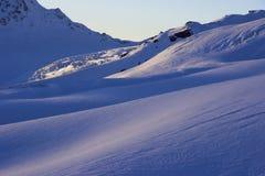 Zmierzchu śniegu skłon Obrazy Stock
