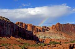 Zmierzchu Capitol rafy park narodowy przy panorama punktem Obraz Stock