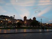 Zmierzchu Cuzco plac Obrazy Stock