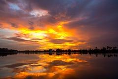 Zmierzchu i chmury niebo Zdjęcie Stock