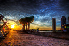Zmierzchu i wschodu słońca widok Fotografia Royalty Free