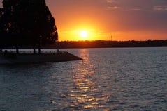 Zmierzchu Jezioro Zdjęcia Royalty Free