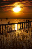 Zmierzchu Jezioro Włochy - Garda Jezioro - Obraz Royalty Free