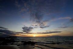 Zmierzchu Kamaole plaży park obrazy royalty free