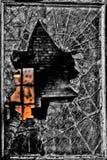 Zmierzchu kolor Przez Łamanego okno Zdjęcia Stock