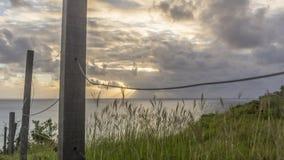Zmierzchu krajobraz, morze Fernando De Noronha wyspa zdjęcia stock
