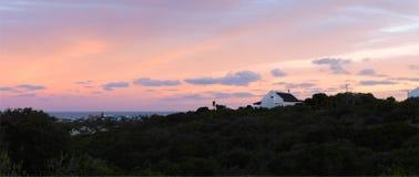Zmierzchu krajobraz na Spokojnym Podpalanym Południowa Afryka zdjęcia stock