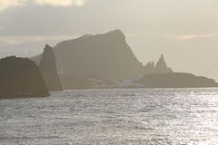 Zmierzchu krajobraz w Antarctica Obraz Royalty Free