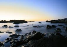 Zmierzchu krajobraz w Tenerife wyspa kanaryjska Tenerife długo ekspozycji Zdjęcie Royalty Free