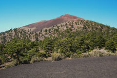 Zmierzchu krateru wulkanu Krajowy zabytek Obraz Stock