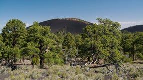 Zmierzchu krateru wulkanu Krajowy zabytek Fotografia Royalty Free