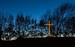 Zmierzchu krzyż Fotografia Stock