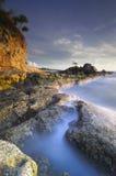 Zmierzchu Labuan wyspa Obraz Royalty Free