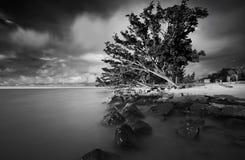 Zmierzchu Labuan wyspa Obraz Stock