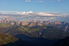 Zmierzchu Lechquellengebirge góry od Furkajoch, Austria obraz royalty free
