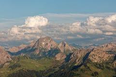 Zmierzchu Lechquellengebirge góry od Furkajoch, Austria fotografia royalty free