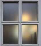 Zmierzchu miasta okno tło Obrazy Royalty Free