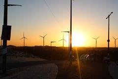 Zmierzchu mirante Taíba, pożycza wiatr, Ceará, Brazylia fotografia stock