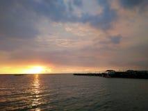 Zmierzchu morza niebo Obrazy Stock