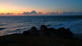 zmierzchu morza widok zbiory wideo