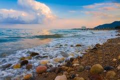 Zmierzchu morze Fotografia Stock