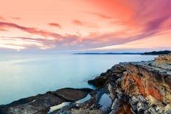 Zmierzchu morze Zdjęcia Stock