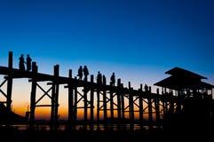 Zmierzchu most Zdjęcia Royalty Free