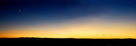 zmierzchu nieba pomarańczowy żółty Obraz Royalty Free