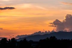 Zmierzchu nieba tło Fotografia Stock